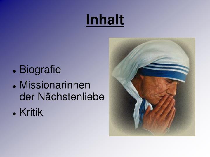 Mutter Teresa Referat