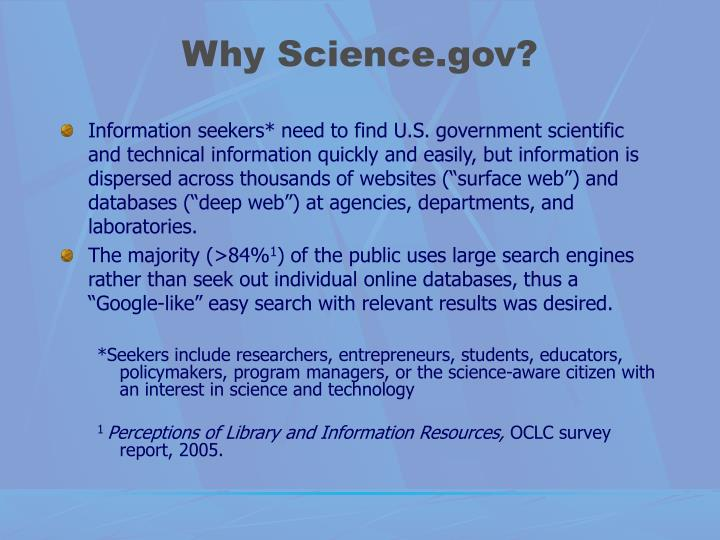 Why science gov