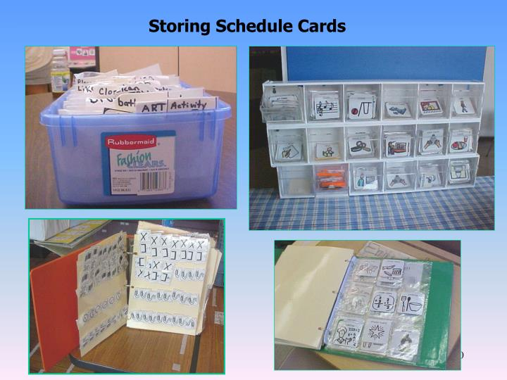 Storing Schedule Cards