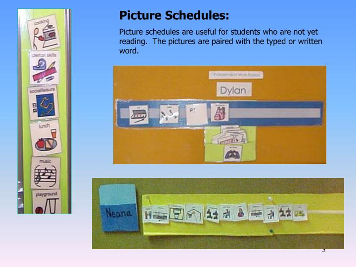 Picture Schedules: