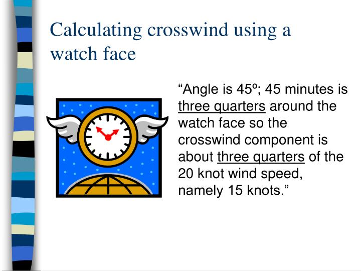 Calculating crosswind using a