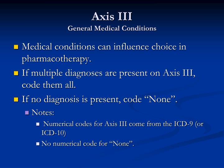 Axis III
