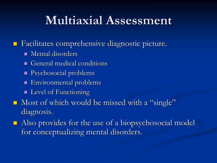 Multiaxial assessment
