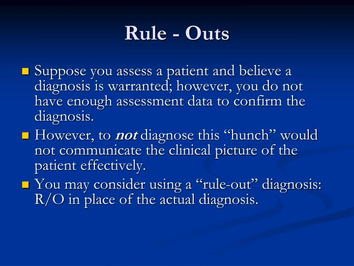 Rule - Outs