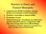 barriers to entry and natural monopoly