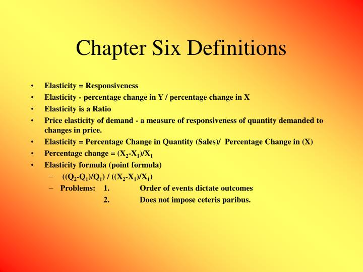 chapter six definitions n.