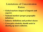 limitations of concentration ratios