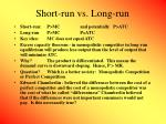 short run vs long run