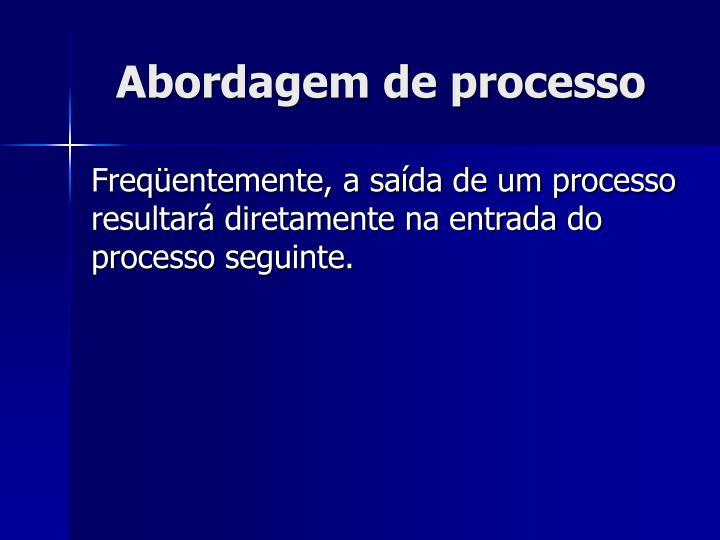 Abordagem de processo