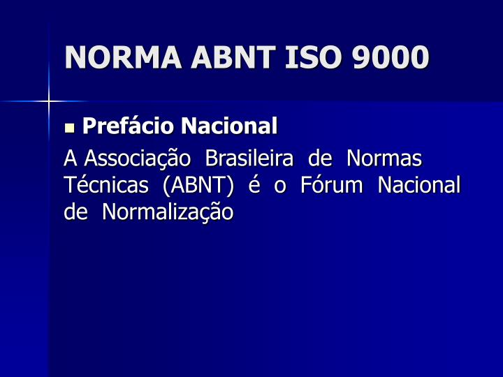 Norma abnt iso 90001