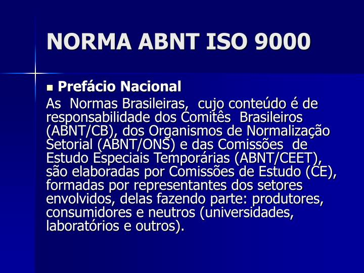 Norma abnt iso 90002