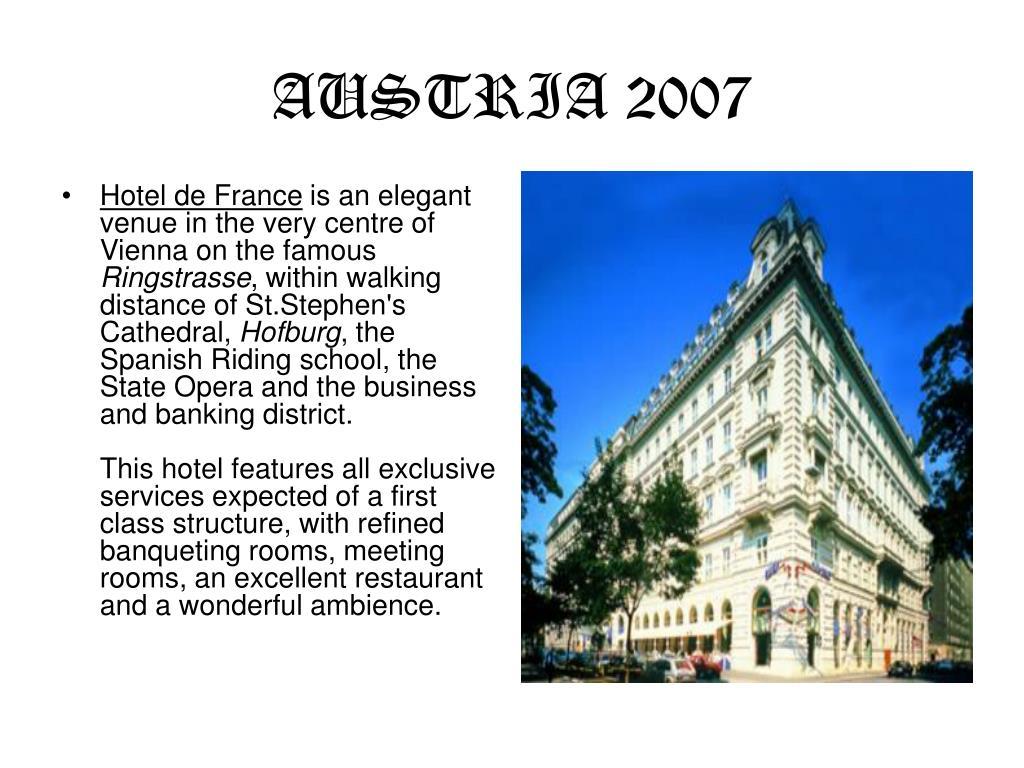 AUSTRIA 2007