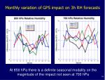 at 850 hpa there is a definite seasonal modality on the magnitude of the impact not seen at 700 hpa