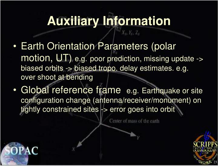 Auxiliary Information