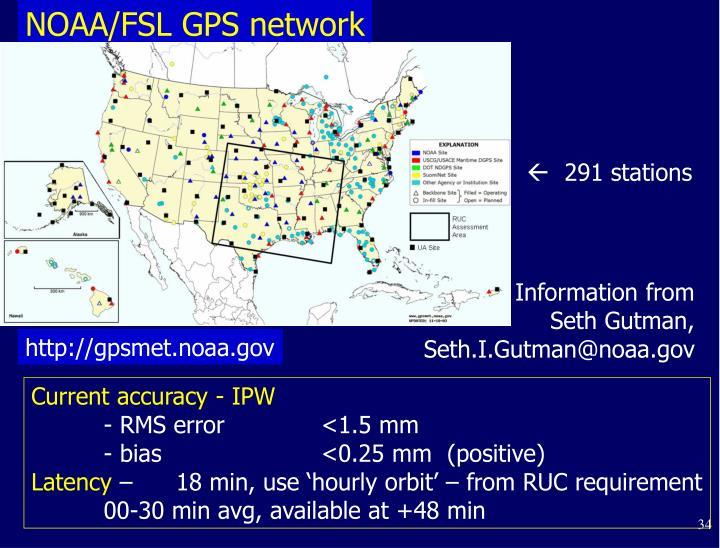 NOAA/FSL GPS network