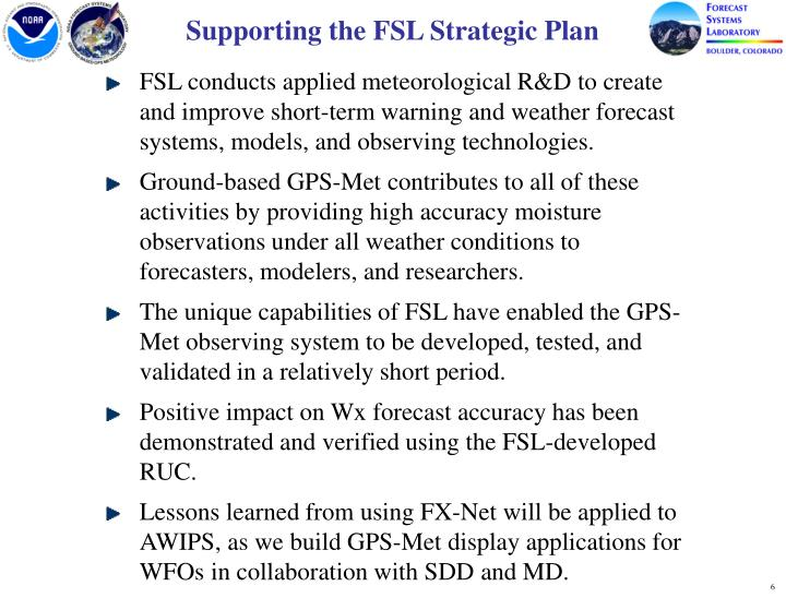 Supporting the FSL Strategic Plan