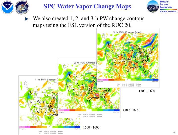 SPC Water Vapor Change Maps