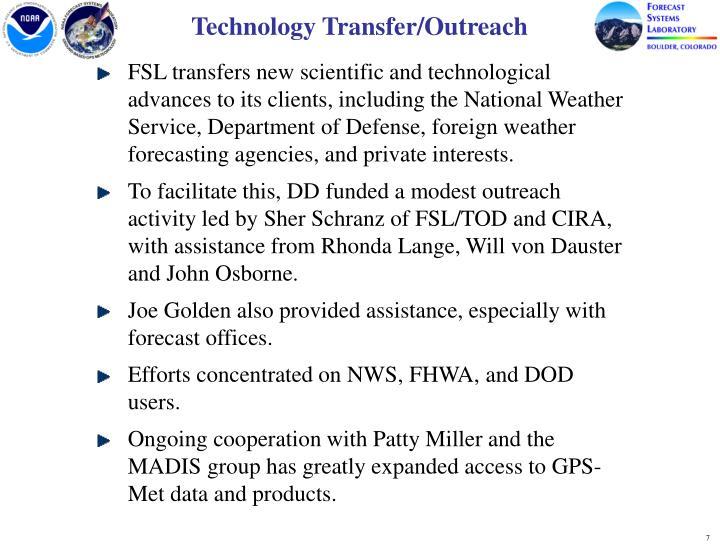 Technology Transfer/Outreach