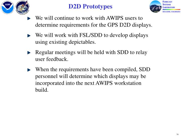 D2D Prototypes