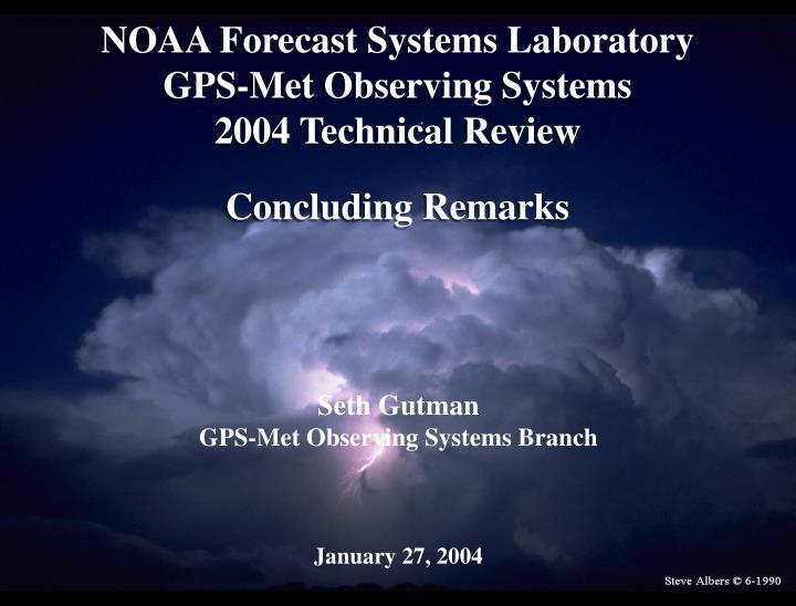 NOAA Forecast Systems Laboratory