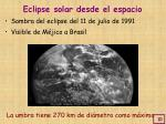 eclipse solar desde el espacio