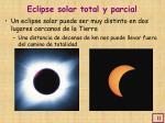 eclipse solar total y parcial