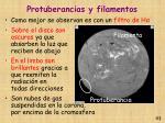 protuberancias y filamentos