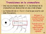 transiciones en la cromosfera