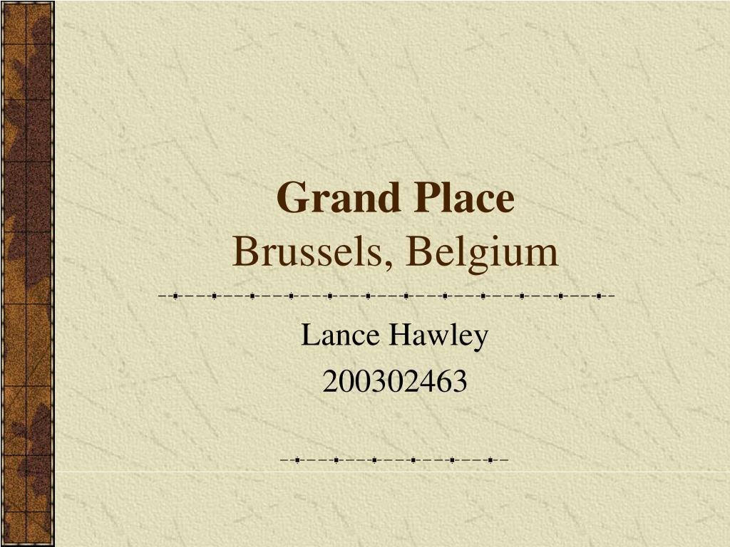 grand place brussels belgium l.