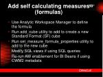 add self calculating measures formulas