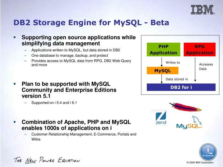 DB2 Storage Engine for MySQL - Beta