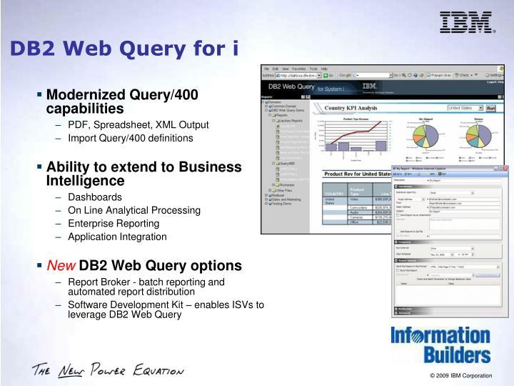 Modernized Query/400 capabilities