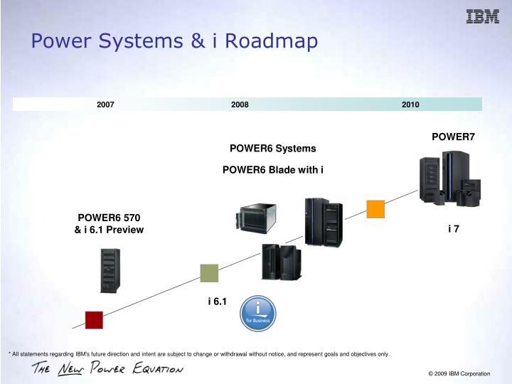 Power Systems & i Roadmap