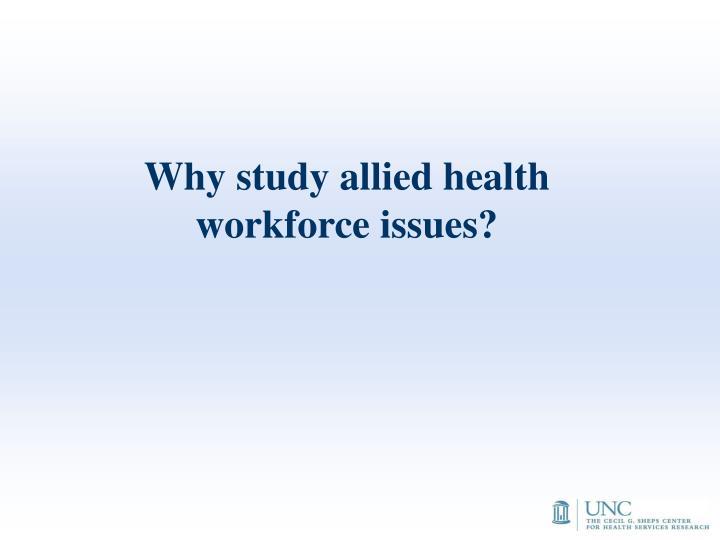 Why study allied health