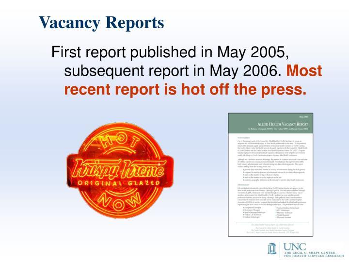 Vacancy Reports