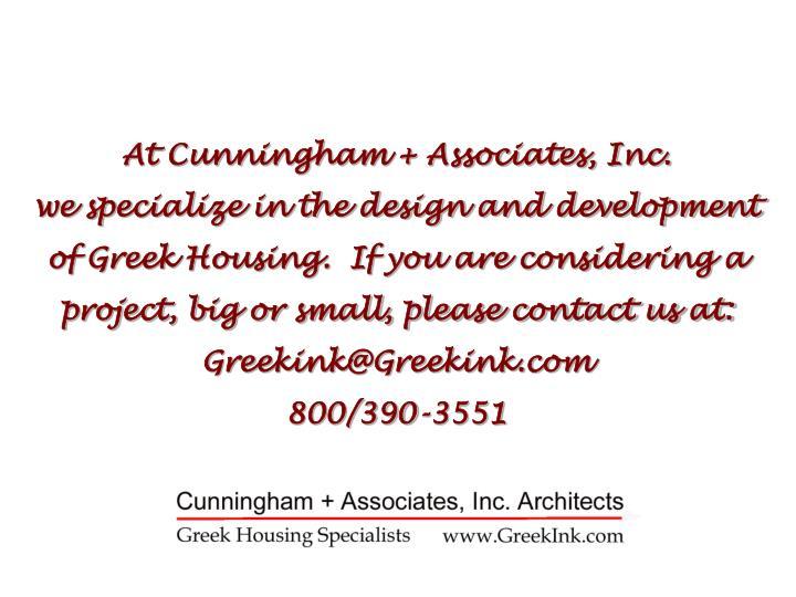 At Cunningham + Associates, Inc.