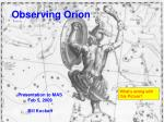 observing orion