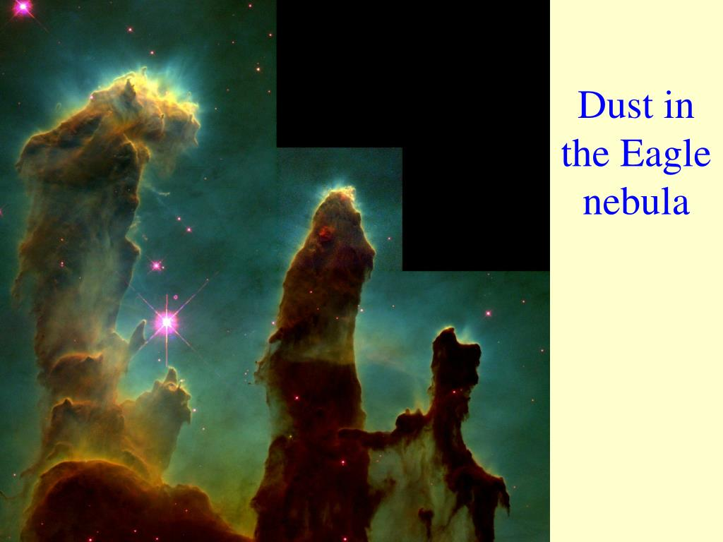 Dust in the Eagle nebula
