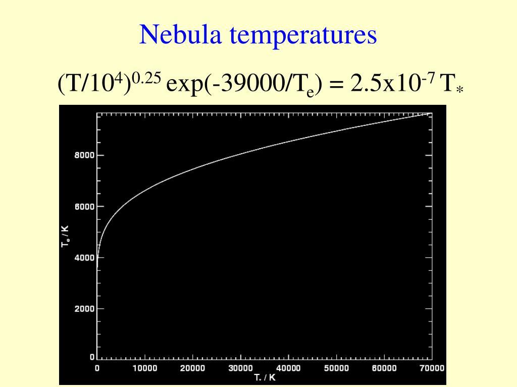 Nebula temperatures