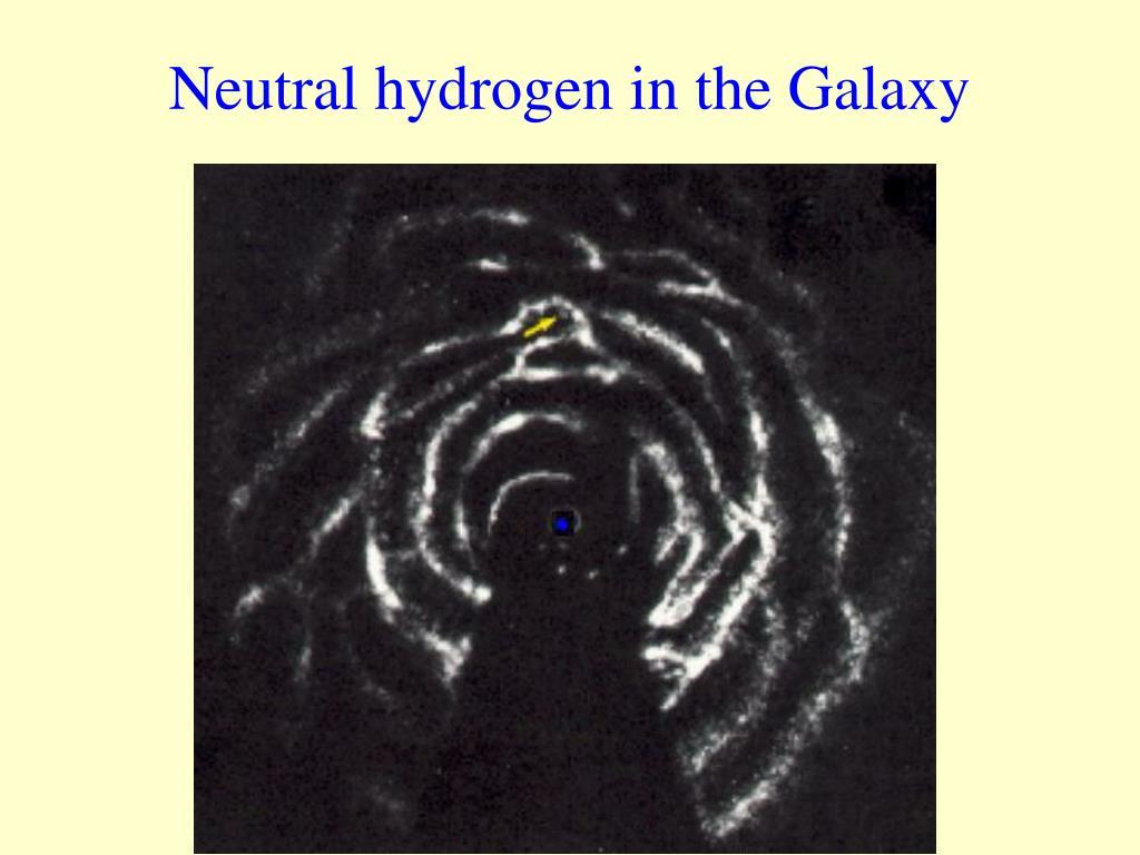Neutral hydrogen in the Galaxy