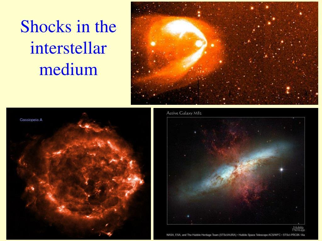Shocks in the interstellar medium