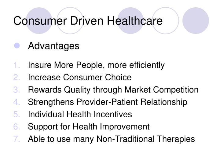 Consumer driven healthcare1