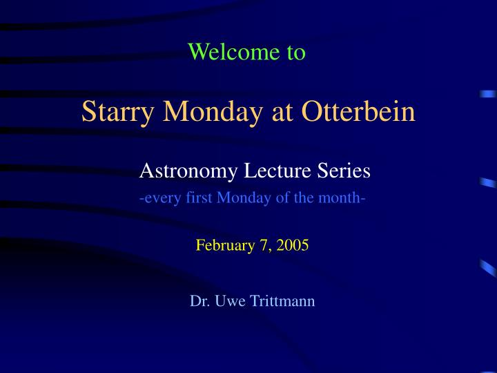 starry monday at otterbein n.