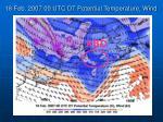18 feb 2007 00 utc dt potential temperature wind