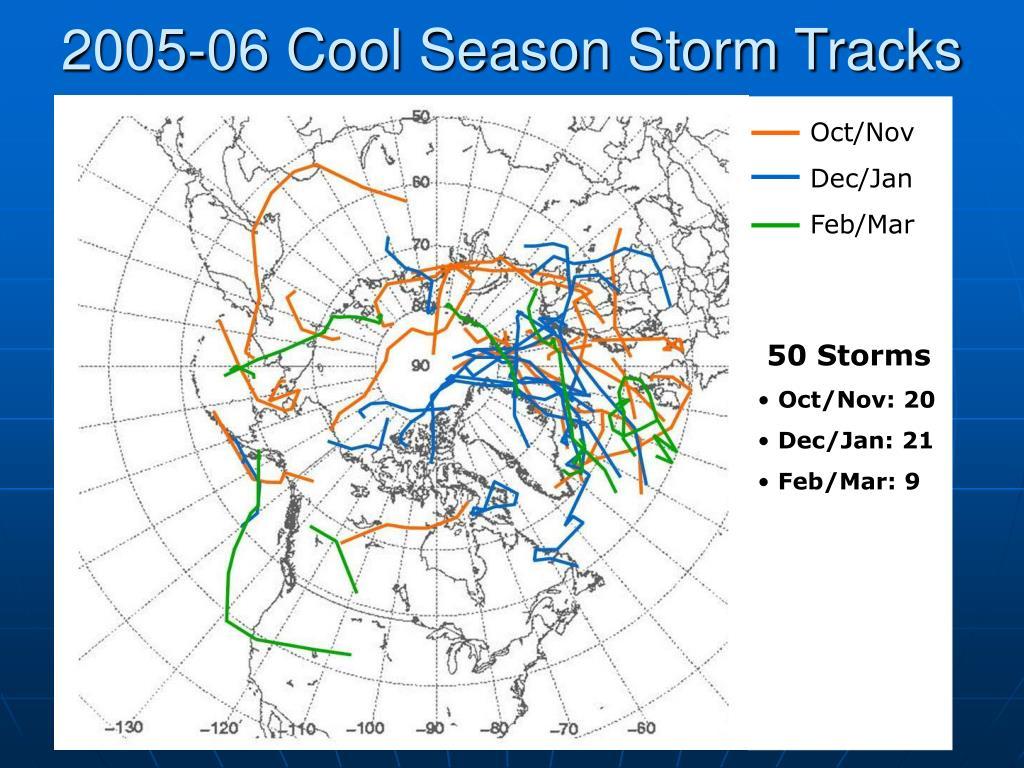 2005-06 Cool Season Storm Tracks