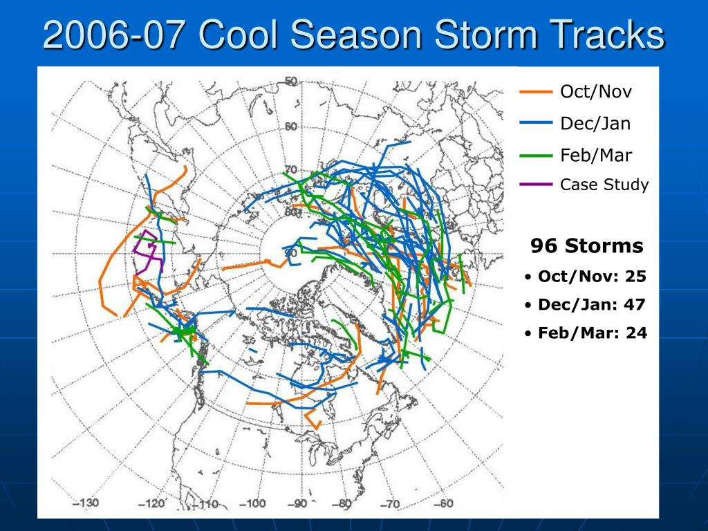 2006-07 Cool Season Storm Tracks