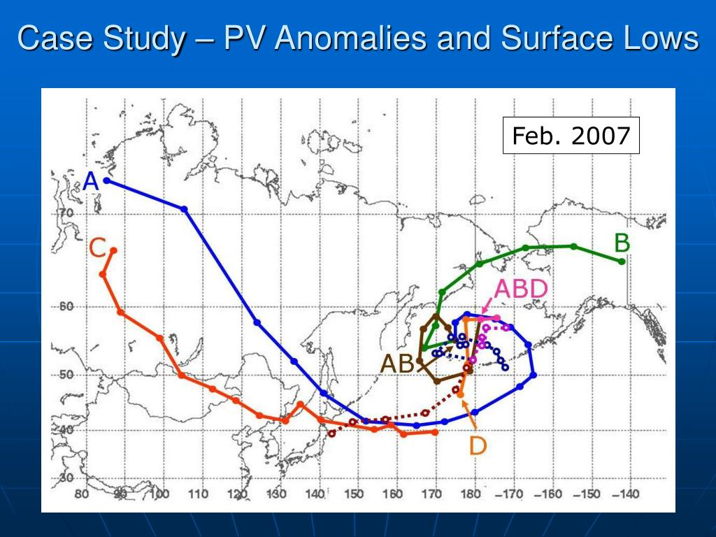 Case Study – PV Anomalies and Surface Lows