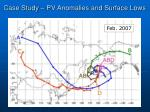 case study pv anomalies and surface lows