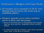 conclusions mergers and case study