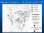 merger locations by month 2005 07
